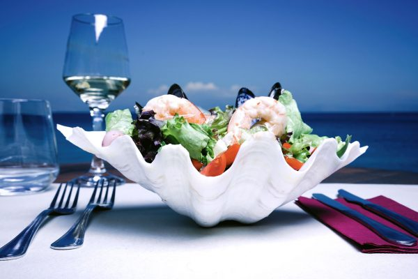 kaiser bridge restaurant corfu shrimp salad